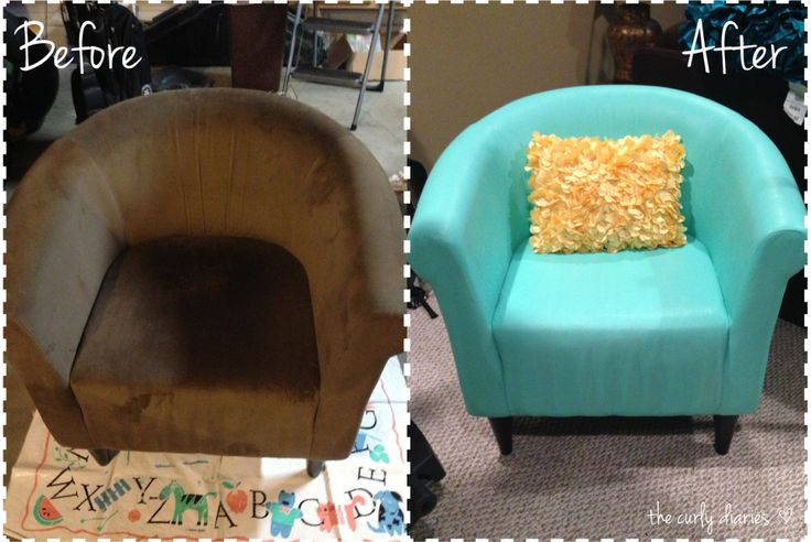 Before & After: How To Paint Fabric Furniture!