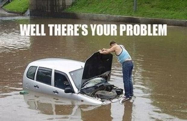 I checked the carb...wait for it...and I think its flooded. I couldn't resist.