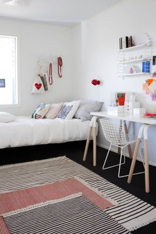 Rug Layering Simple Coziness Comfort And Softness To The Bare Minimalist Room Bedroom