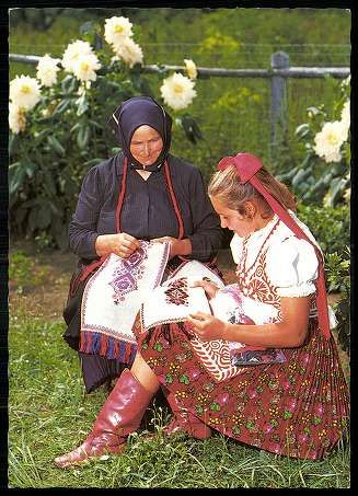 Buzsák; Népviselet   Képeslapok   Hungaricana