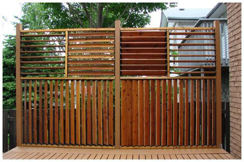 DIY Flex·fence louvered hardware.  Mount brackets to posts & cut boards to fit slots. Vertical or horizontal, walls or roofs. Can be open or close...for privacy, for sun vs shade. Photo gallery here