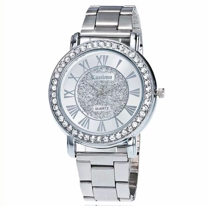 relógio feminino prata prova de água - promoção dia das mães