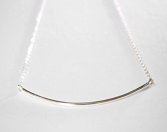 Dainty Silver Bar Necklace  .999 pure silver bar by TheLuxeGarden, $27.00