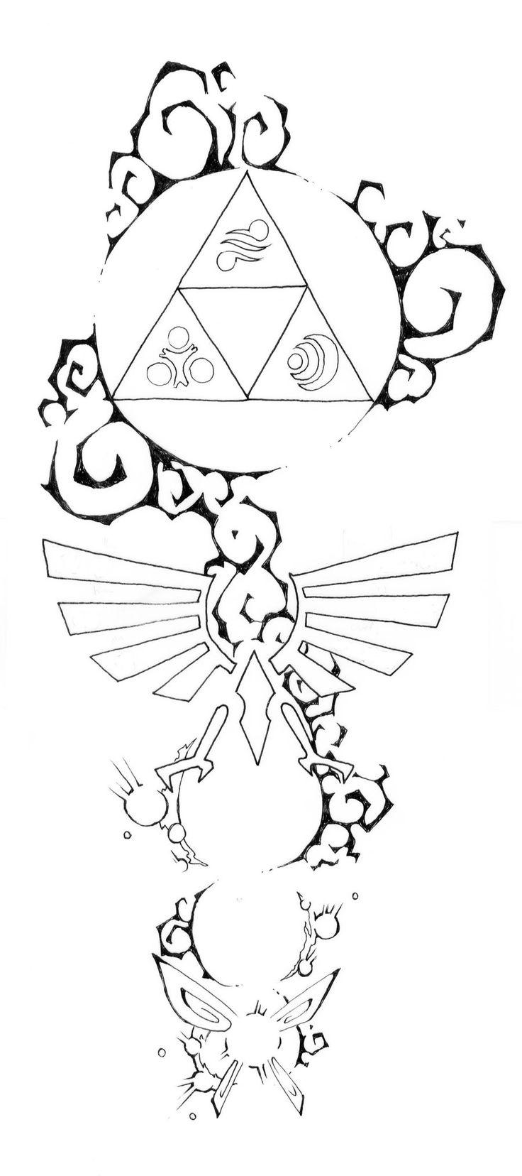 Zelda tattoo design #3 by blue-pepi.deviantart.com on @deviantART