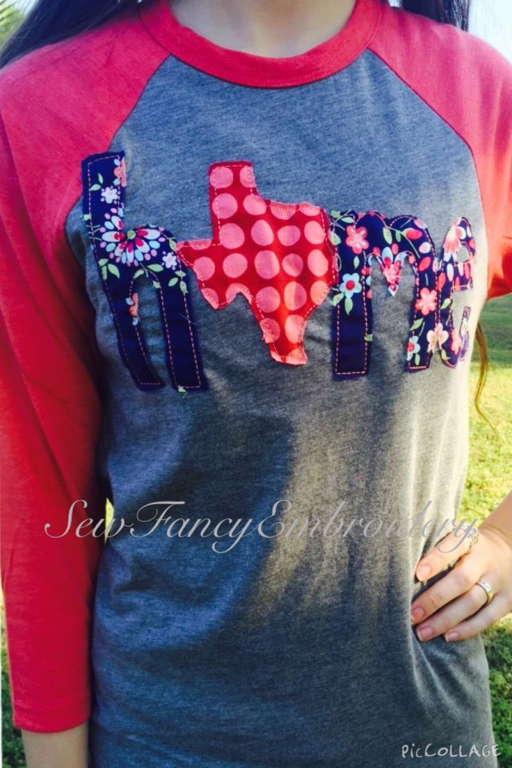 Texas Home Shirt, Home shirt with Texas, Texas shirt, Home shirt, Raglan home shirt, texas raglan, amy butler by SewFancyEmbroidery on Etsy https://www.etsy.com/listing/292913225/texas-home-shirt-home-shirt-with-texas