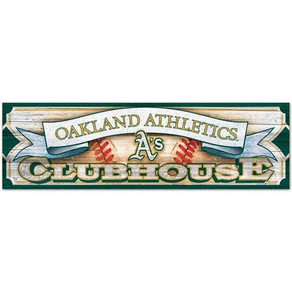 "Oakland Athletics WinCraft 9x30 Panoramic Wood Sign 9"" x 30"" Panoramic Wood Sign - $41.99"