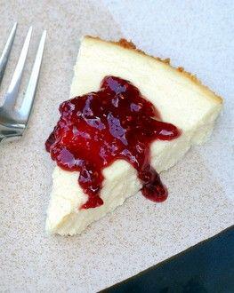 Vanilla Yogurt Cheesecake | Baking Bites-can be adapted for slimming world