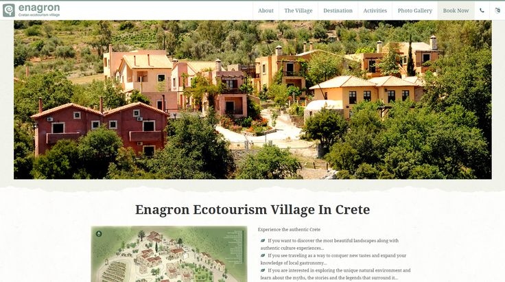 Enagron Ecotourism Village in Crete, offers high quality hotel services without being just a hotel. We see in our visitors not just clients, but guests, our own people. http://www.eyewide.gr/en/portfolio/tourism/enagron #ppc #google_adwords #seo #enagron #eyewide