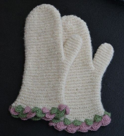 Ullcentrum - vante i virkad enkel nålbindning naalbinding mittens, instructions in Swedish