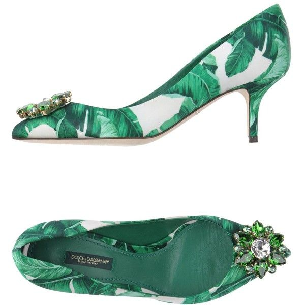 Dolce & Gabbana Court ($805) ❤ liked on Polyvore featuring shoes, pumps, green, spiked heel shoes, dolce gabbana shoes, green pumps, dolce gabbana pumps and spiked heel pumps