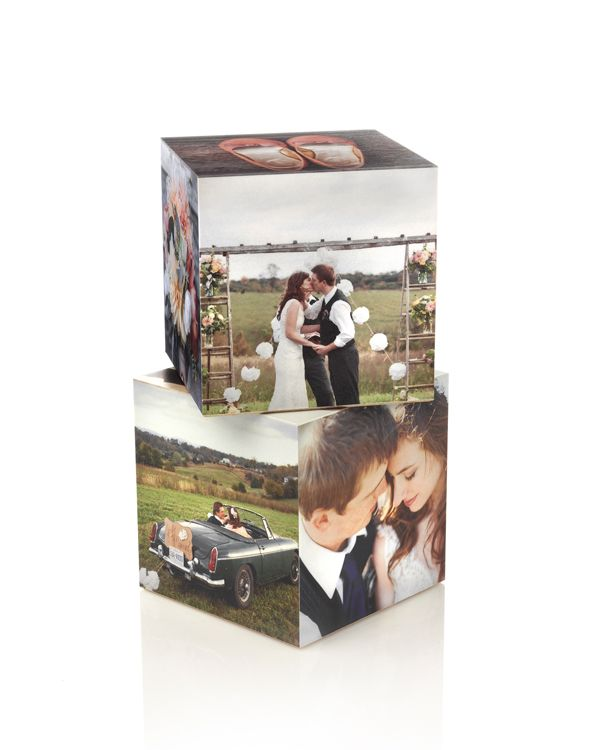 Custom photo cubes help stack your wedding memories in a creative fashion   Shutterfly.com