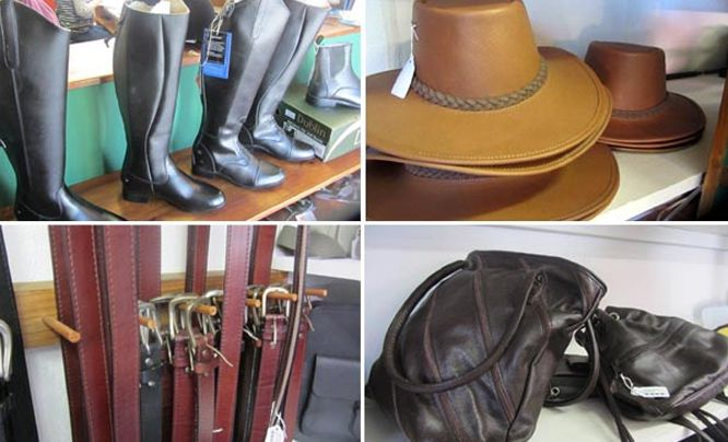 From bridles to handbags you'll find everything you need for horse and rider at Noordhoek Farm Village
