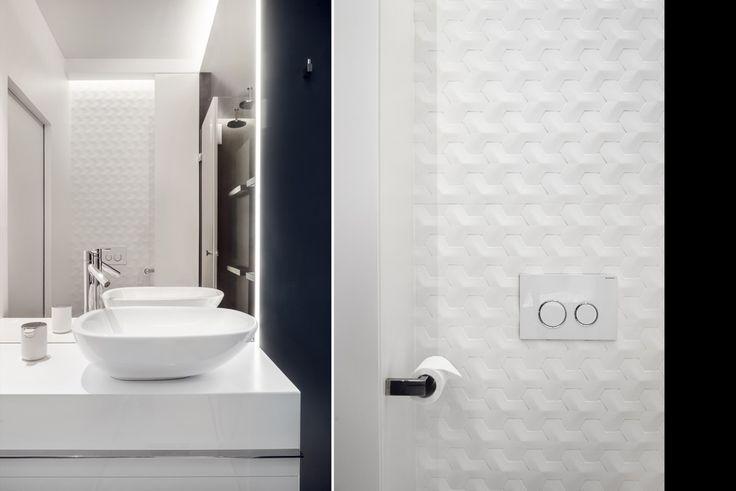 black and white bathroom 3d tiles