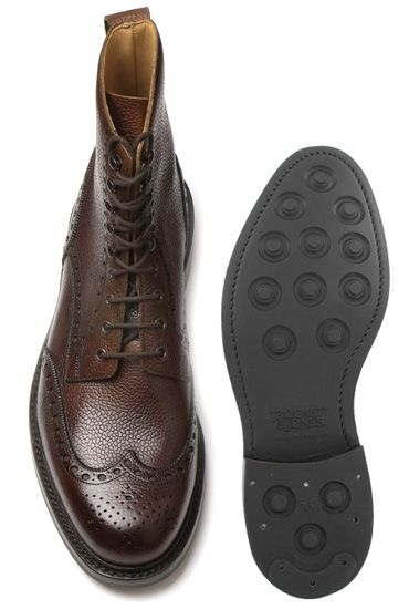 Crockett & Jones Islay top view and Dainite rubber sole - James Bond wore them in Skyfall