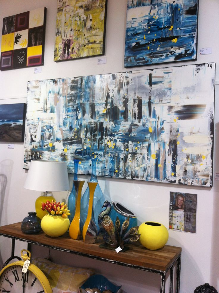 Original Turquoise abstract at Design Art House