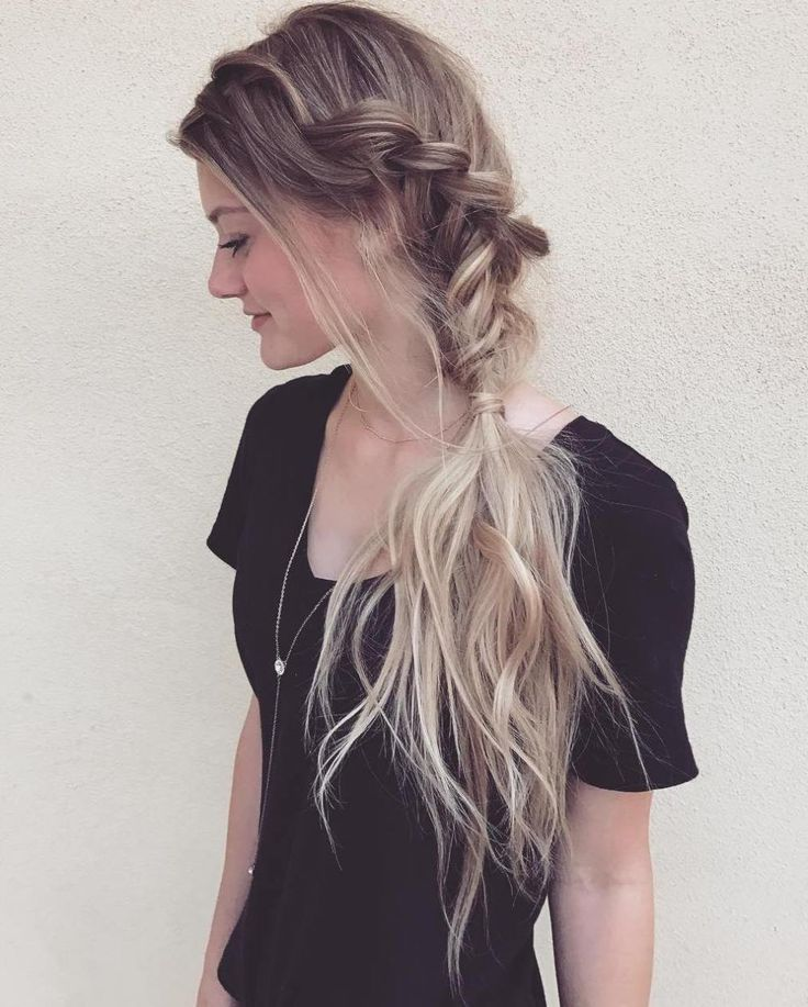 60 Best Elegant French Braid Hairstyles Side Braid Hairstyles Braided Ponytail French Braid Hairstyles