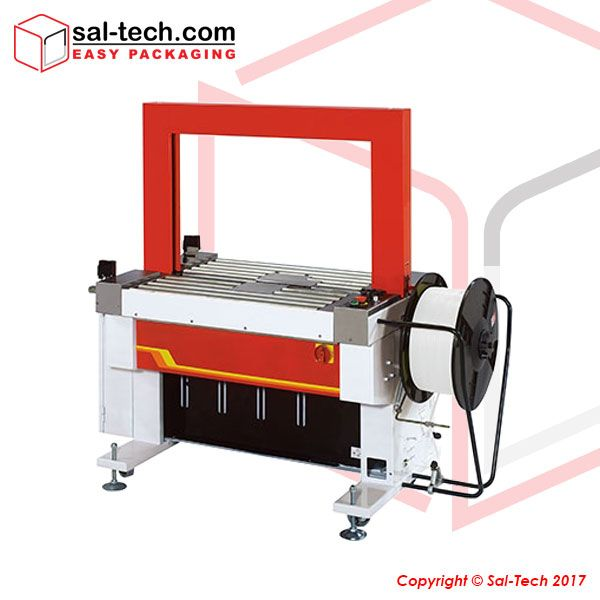 An automated strapping machine that has the capability of up to 18 packages per minute. Ergonomically built 820mm table height that able to control the infeed and outfeed of conveyors, with its multiple strap function to choose depending on your requirement. #FullyAutomaticStrappingMachine #StrappingMachine #SalTechEasyPackaging  Inquire now: Call +45 7027 2220 Skype: easy.packaging Email: support@sal-tech.com
