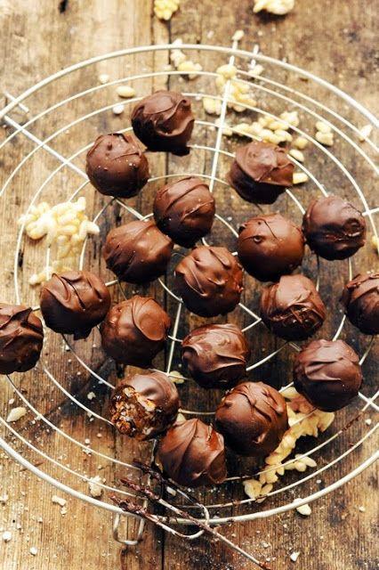 Chocolate + Nutella dumplings- caramelised rice krispies, chocolate and marshmallows...