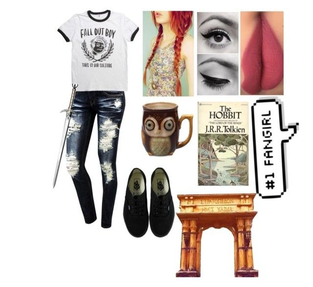 """""""Coralee, daughter of Athena reading by the lake. Outfit one"""" by lilli-girl123 ❤ liked on Polyvore featuring Vans, S.W.O.R.D., pjo, camphalfblood, Demigod, Athena and lillispjoocsets"""