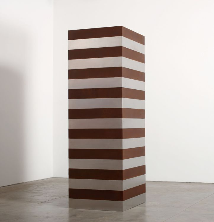 Sean Scully, BROWN SILVER TOWER 2016