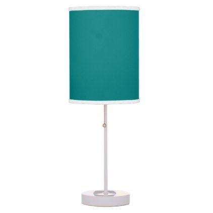 Teal Desk Lamp - home gifts ideas decor special unique custom individual customized individualized