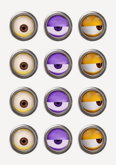 Olhos dos Minions para imprimir + ideias para festa Minions - Dicas pra Mamãe
