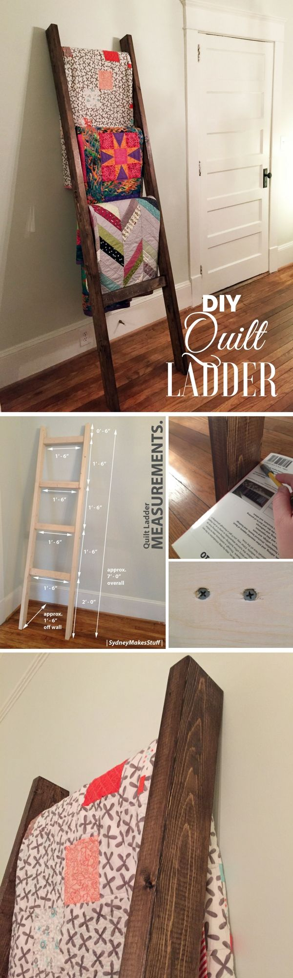 Check out how to build an easy DIY Quilt Ladder @istandarddesign
