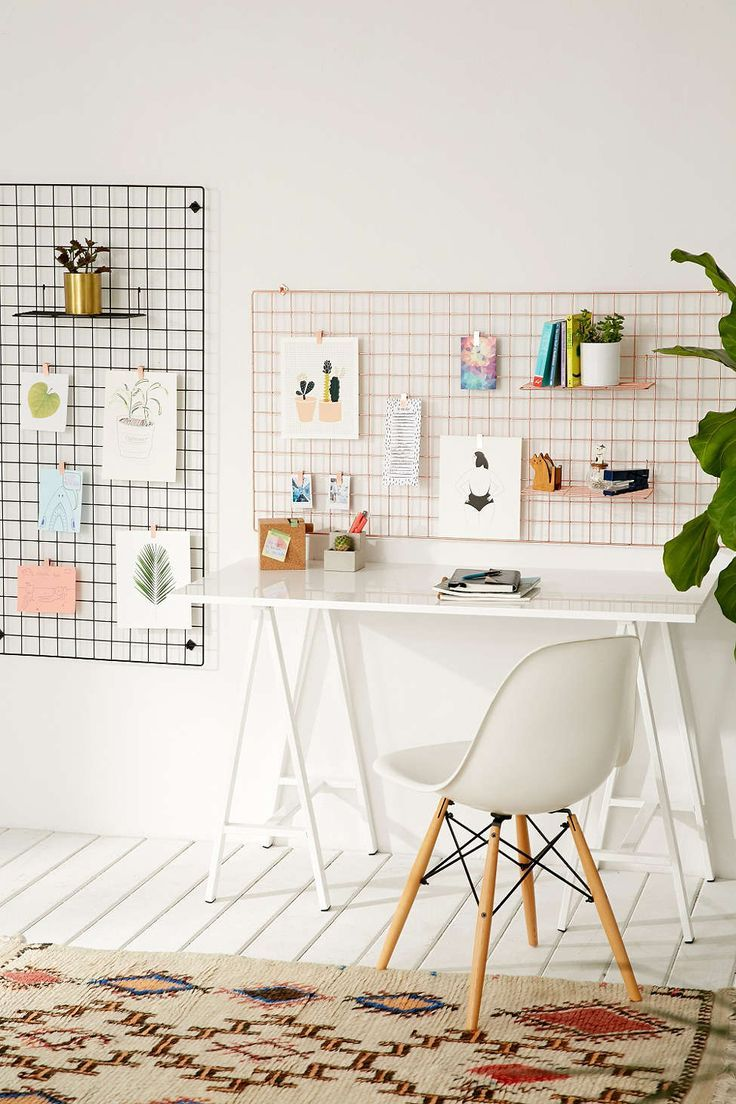 Wire Wall Grid Shelf - Urban Outfitters Inspiration for your home office  workspace