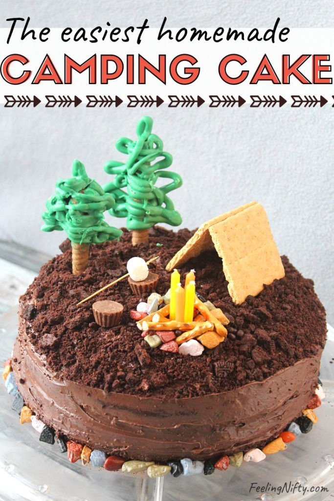 Surprising How To Make A Smores Camping Cake Recipe With Images Funny Birthday Cards Online Bapapcheapnameinfo