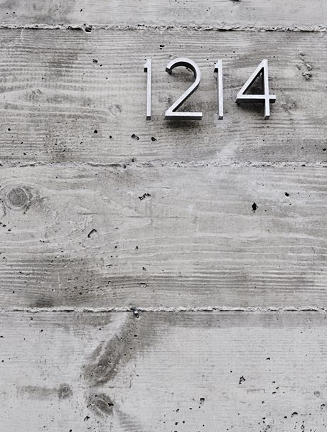 Neutra House Number On A Concrete Wall By Michelle Wentworth