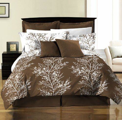 Chezmoi Collection 8 Piece Soft Microfiber Reversible Tree