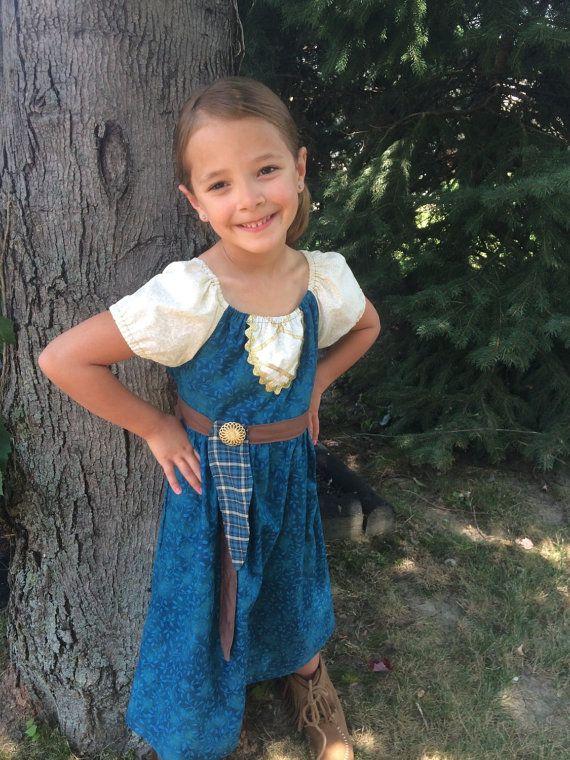 Merida Dress Brave Dress Girls Dress by TwoChickiesBoutique