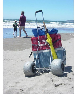 Details About Wheeleez Wz1 Bcf Folding Beach Cart New