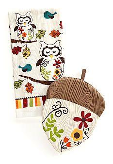 Ritz Sleepy Owl Kitchen Textiles #belk
