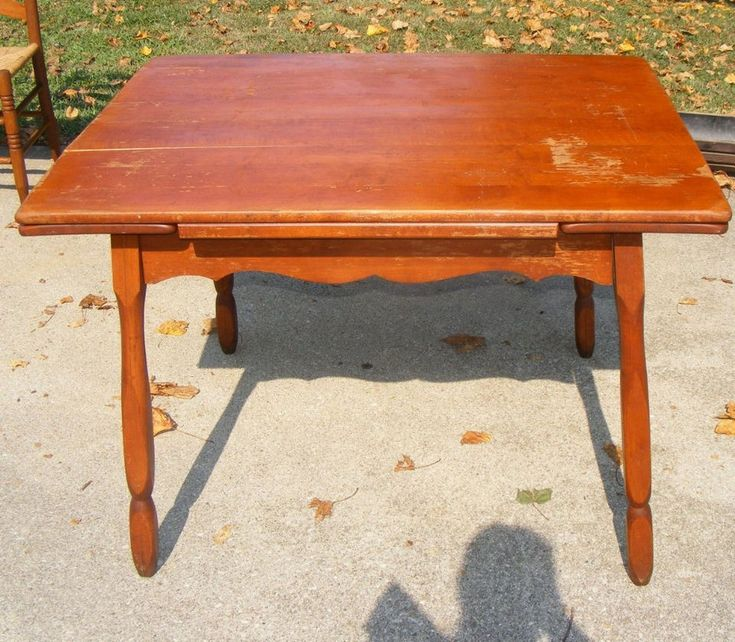 Antique Maple Hidden Drop Leaf Dining Room Kitchentable