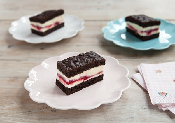 This chocolate brownie and raspberry icecream sandwich is so delicious and beautiful, don't you think? Find it @Michal Suchanek Koppa.co.nz