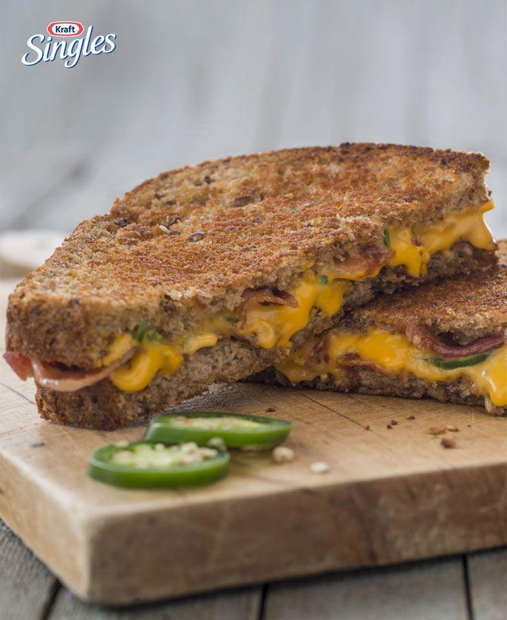 Sandwich au fromage fondant au jalapeno et au bacon #recette