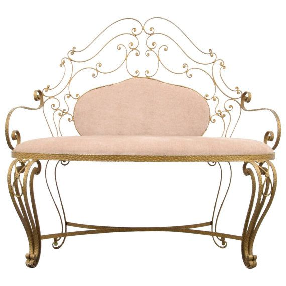 Pier Luigi Colli Wrought Iron Bench