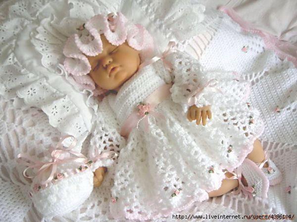Платье для новорожденной девочки фото