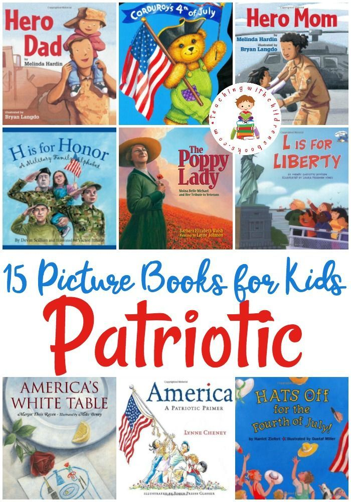 Celebrate our veterans and our country with this wonderful collection of patriotic picture books for Veteran's Day and beyond.
