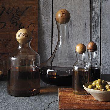 Glass Bottles for whiskey & wine.