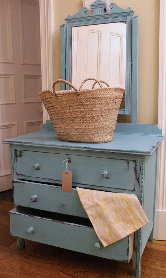 SOLD Annie Sloan Chalk Painted chest of drawers & by JoMacfarlane, £85.00
