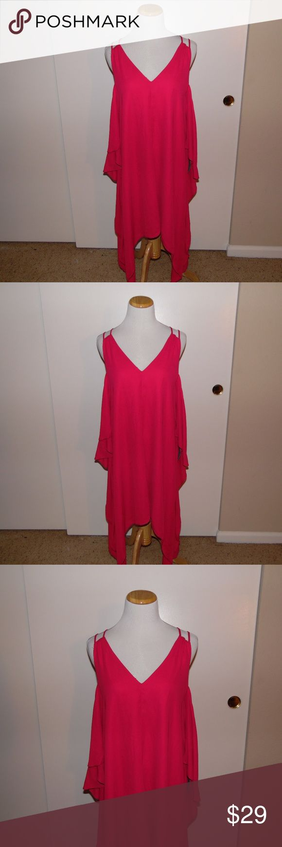 Adelyn Rae Fiona Cold Shoulder Shift Dress Brand New with Tags Adelyn Rae Fiona Cold Shoulder Shift Dress in the color Cerise. Material is 100% Polyester and is fully lined. Beautiful pink dress that can be dressed up or down for any occasion. Adelyn Rae Dresses