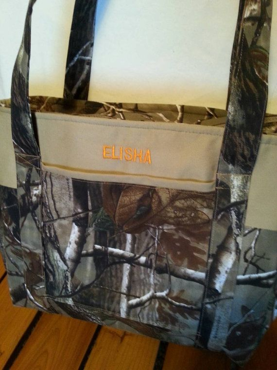 Real tree camo diaper bag personalize custom embroidery future