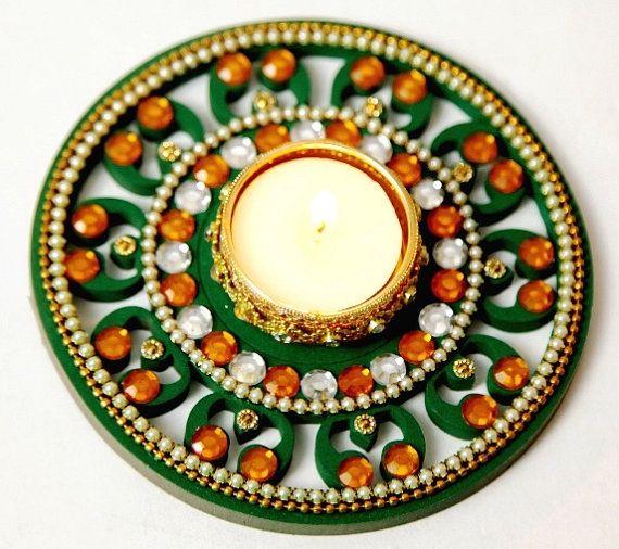 Floating Rangoli set of 2 Diwali by AryaHandicraftStudio on Etsy