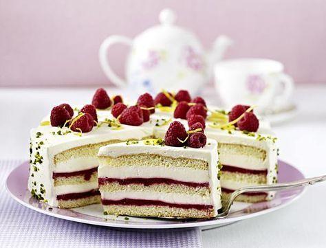 Unser beliebtes Rezept für Himbeer-Smoothie-Torte mit Zitronencreme und mehr als 55.000 weitere kostenlose Rezepte auf LECKER.de.
