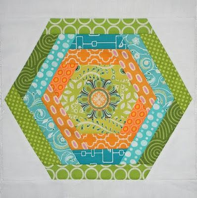 Hexing Around Block from Lee Heinrich of Freshly Pieced.  Tutorial with great photos and description.