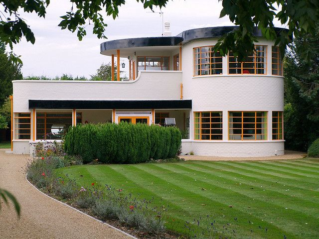 Sunhouse - one of the finest detached Grade II listed houses - 1938 by local Architects Mullet & Denton Smith. Cambridgeshire, UK.