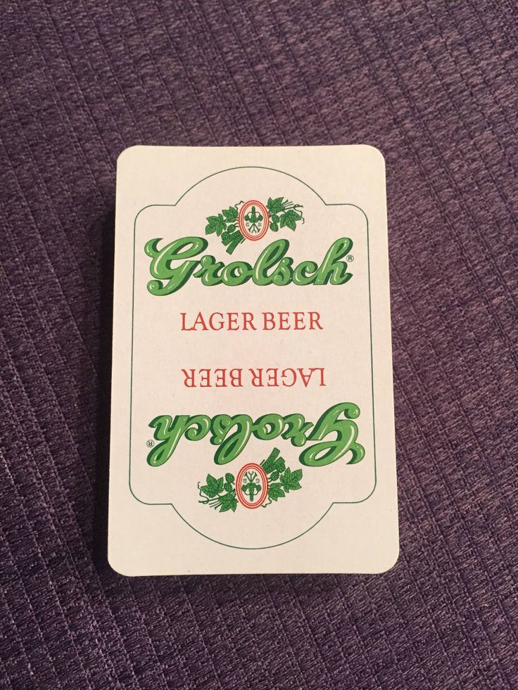 A personal favorite from my Etsy shop https://www.etsy.com/listing/588713247/vintage-grolsch-beer-playing-cards-52