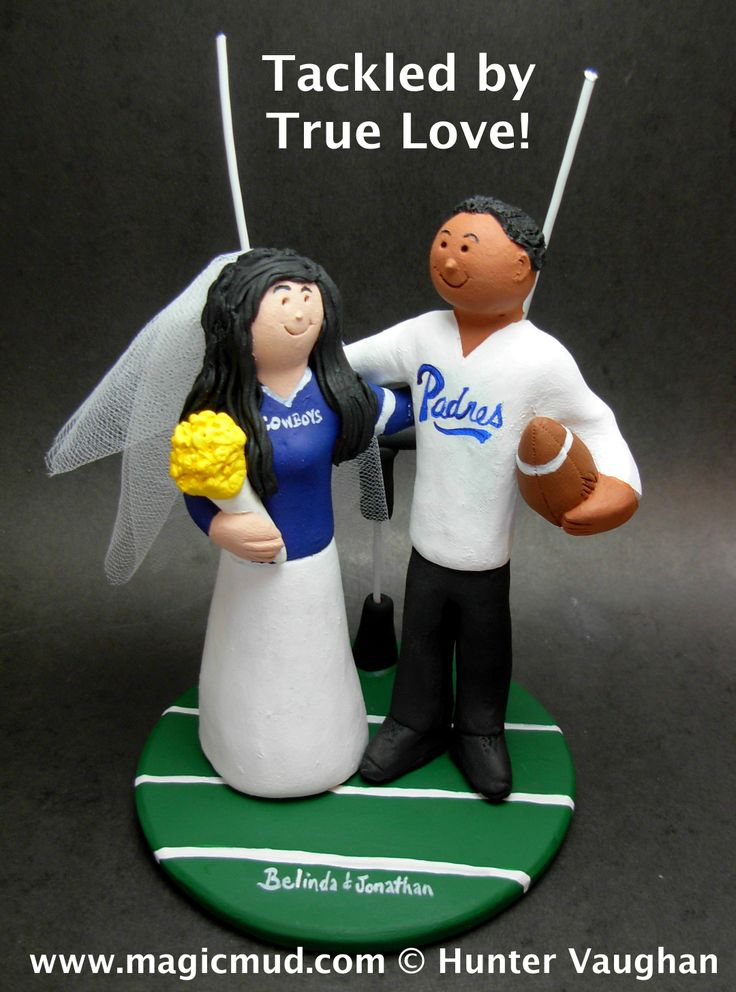College Football Wedding Cake Toppers